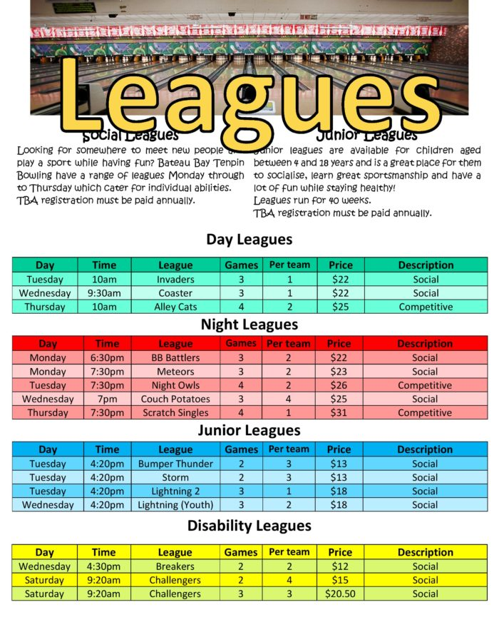 Leagues and Info